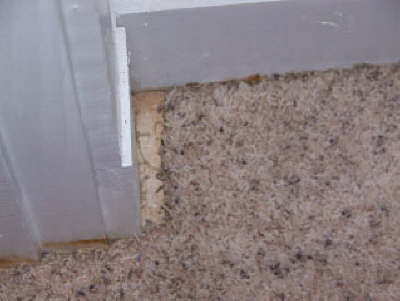 Repair of a Carpet in a Corner